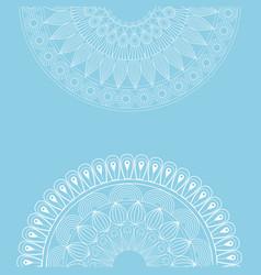 set mandala ottoman motifs round blue background vector image vector image