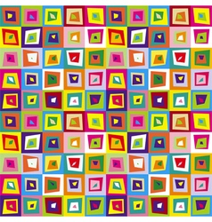 Squares distorted colorful seamless pattern vector image vector image