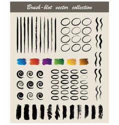 Brush blot vector