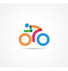 colorful bicycle icon and symbol vector image vector image