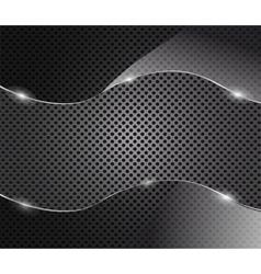 glass frame on metal background vector image