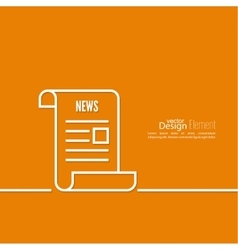 Icon newspaper vector image vector image