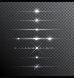 Lens flare light effects vector
