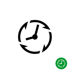 long lifetime period icon timer with arrows vector image vector image