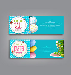 set easter vintage sale banner vector image