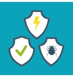 symbol shield protection data system design vector image