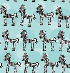 Zebra Seamless pattern with funny cute animal on a vector image vector image