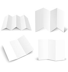 Blank white booklet set isolated on white mockup vector image