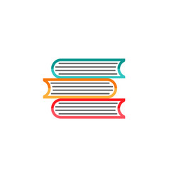 books flat icon education and school element vector image