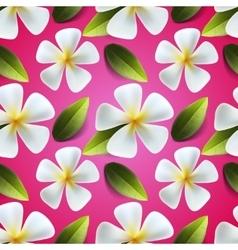 Frangipani flowers seamless pattern vector image