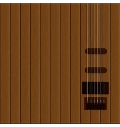 guitar strings on the wooden background vector image