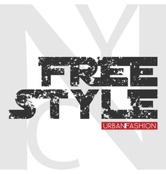 NYC free style design vector image vector image