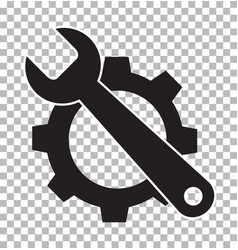 service tools on transparent flat style service vector image