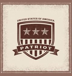 vintage usa patriot label vector image vector image