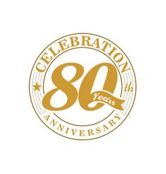 80 th golden anniversary vector