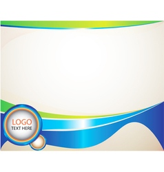 Abstract Background curves green and blue circle l vector image