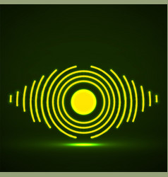 Abstract glowing eye lines logo vector