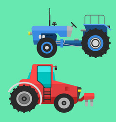 agricultural vehicles tractor harvester machine vector image