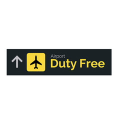 Airport duty free sign icon travel label vector