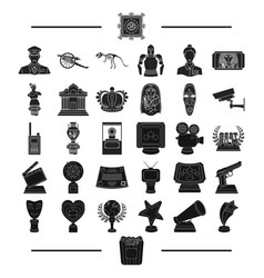 Ancient museum antiquity and other web icon vector