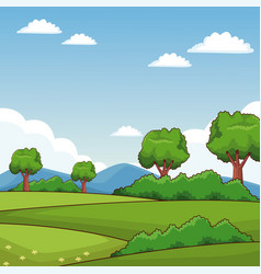 beauitful nature landscape vector image
