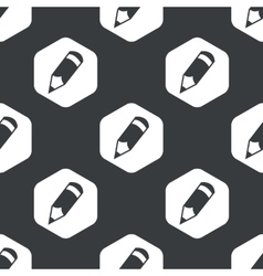 Black hexagon pencil pattern vector