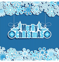 Blue christmas decoration vector
