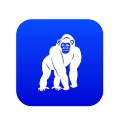 bonobo icon digital blue vector image