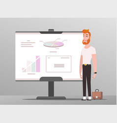 businessman ceo profession showing charts vector image