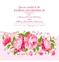 Card of color flowers vector image