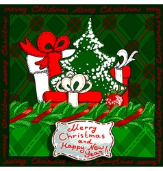 christmas banner design vector image