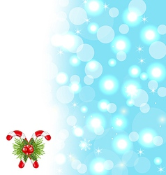 Christmas cute wallpaper with sparkle snowflakes vector image