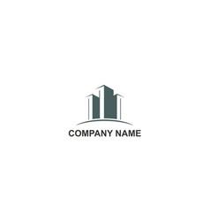 cityscape modern building company logo vector image
