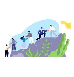 Climb to success startup leading partner hard vector