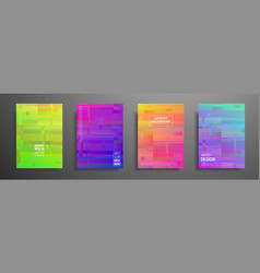 colorful placard templates set with graphic vector image
