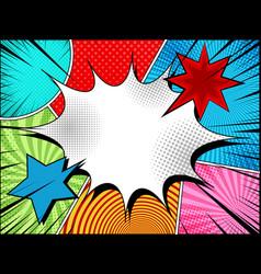Comic page bright concept vector
