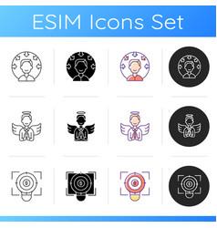 Company vision icons set vector