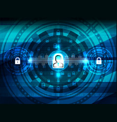 cyber security closed padlock vector image