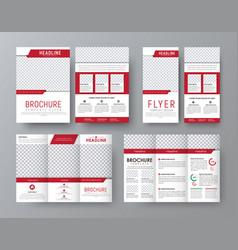 design front and back side folding brochure a4 vector image