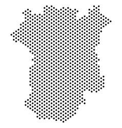Dot chechnya map vector