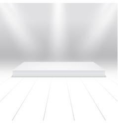 Empty white podium for products 3d white stage in vector