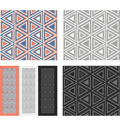 Fashion geometrical pattern with triangles vector image