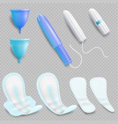 feminine hygiene product set isolated vector image