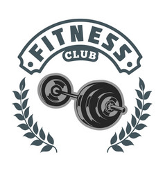 Fitness power club image vector
