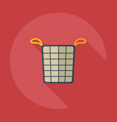 Flat modern design with shadow icons basket of vector
