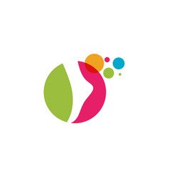 foot logo template icon vector image