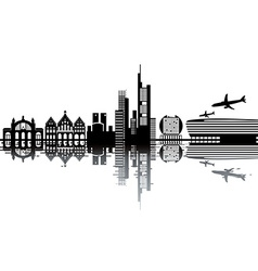 Frankfurt skyline vector