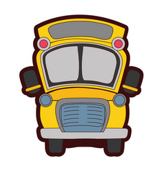 full color school bus transportation to education vector image