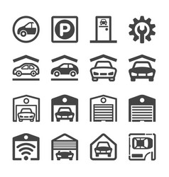garage icon vector image