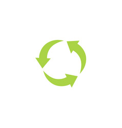 green recycling circle sign symbol and icon with vector image